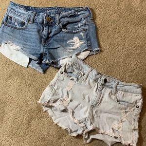 2 pair jean shorts American Eagle 0-1